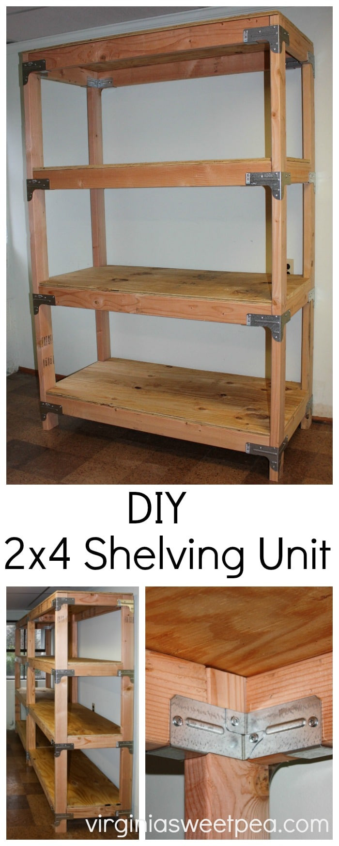 Best ideas about DIY Storage Shelf Plans . Save or Pin DIY 2x4 Shelving Unit Sweet Pea Now.