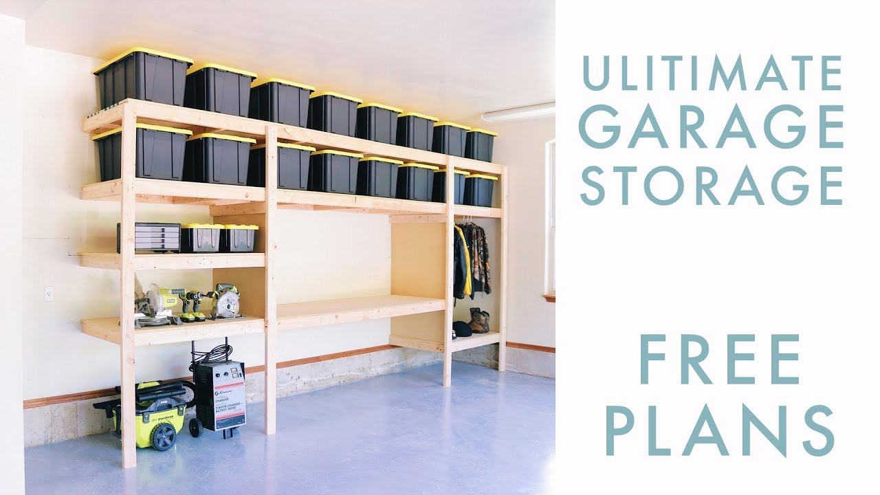 Best ideas about DIY Storage Shelf Plans . Save or Pin DIY Garage Storage Shelf Workbench Solution Now.