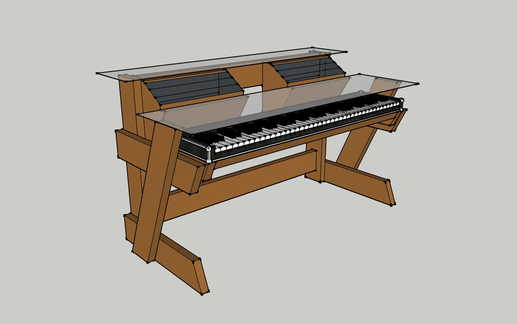 Best ideas about DIY Studio Desks . Save or Pin DIY Studio Desk Keyboard Workstation under $100 Now.
