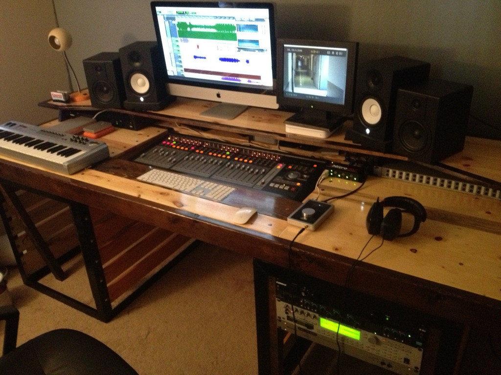 Best ideas about DIY Studio Desks . Save or Pin DIY Studio Desk Gearslutz Pro Audio munity Now.