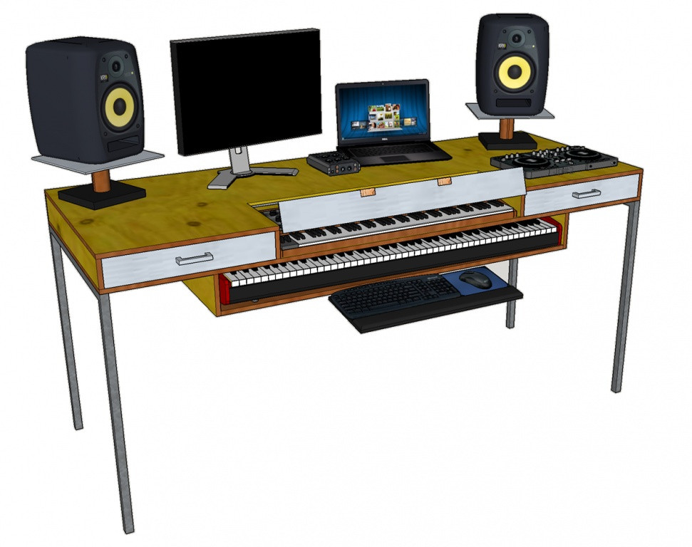 Best ideas about DIY Studio Desks . Save or Pin DIY Studio Desk Design & Build Gearslutz Pro Audio munity Now.