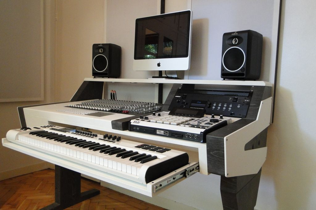 Best ideas about DIY Studio Desks . Save or Pin DIY fully custom built Studio Desk B&W Gearslutz Now.