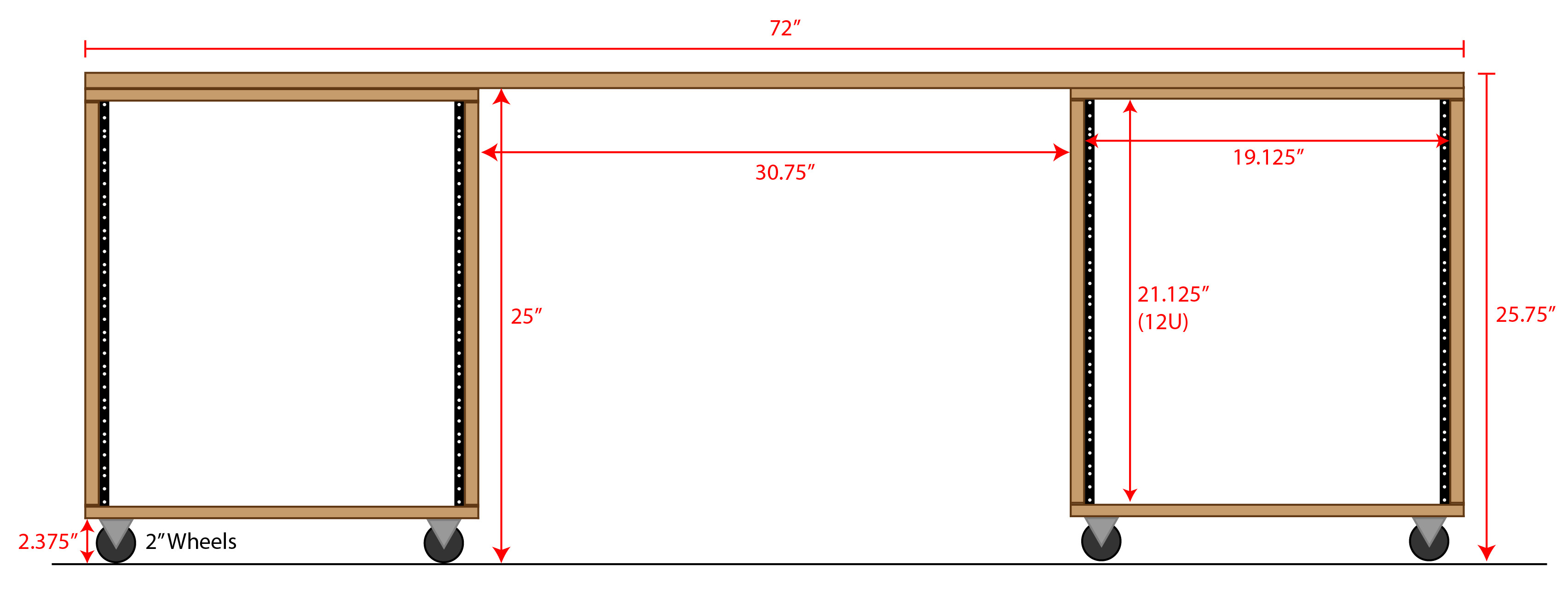 Best ideas about DIY Studio Rack Plans . Save or Pin Audio Rack and Desk Now.