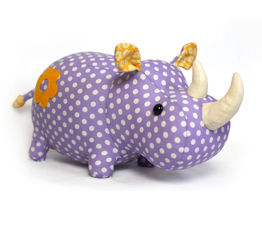 Best ideas about DIY Stuffed Animal . Save or Pin Toy Patterns by DIY Fluffies Rhino stuffed animal pattern Now.