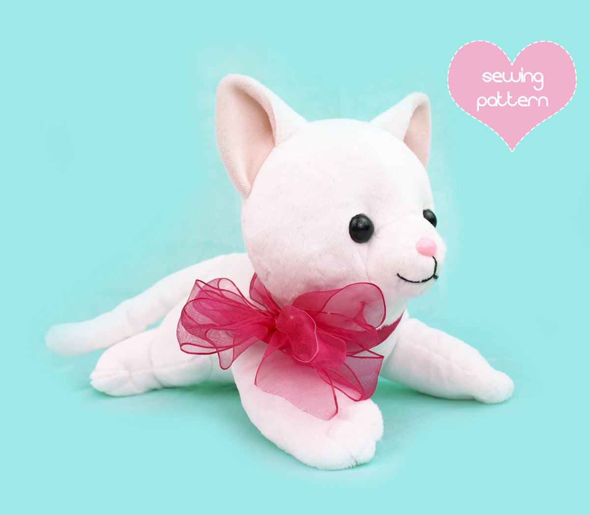 Best ideas about DIY Stuffed Animal . Save or Pin PDF sewing pattern Cat stuffed animal large kawaii Now.