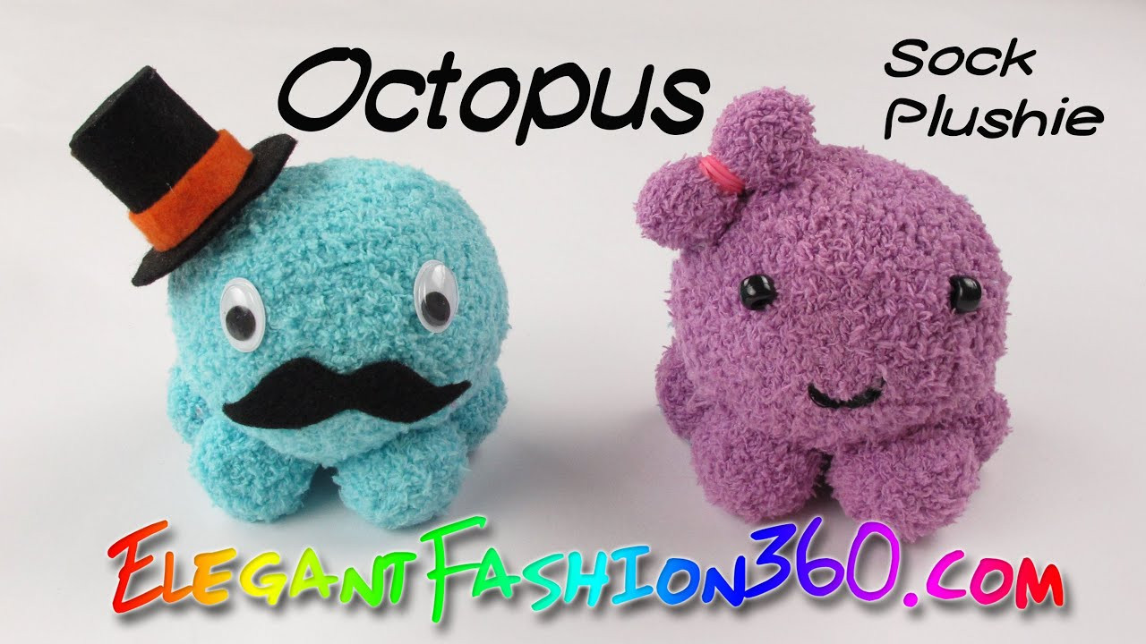 Best ideas about DIY Stuffed Animal . Save or Pin DIY Octopus Kawaii Sock Plushie Stuffed Animal How to Now.