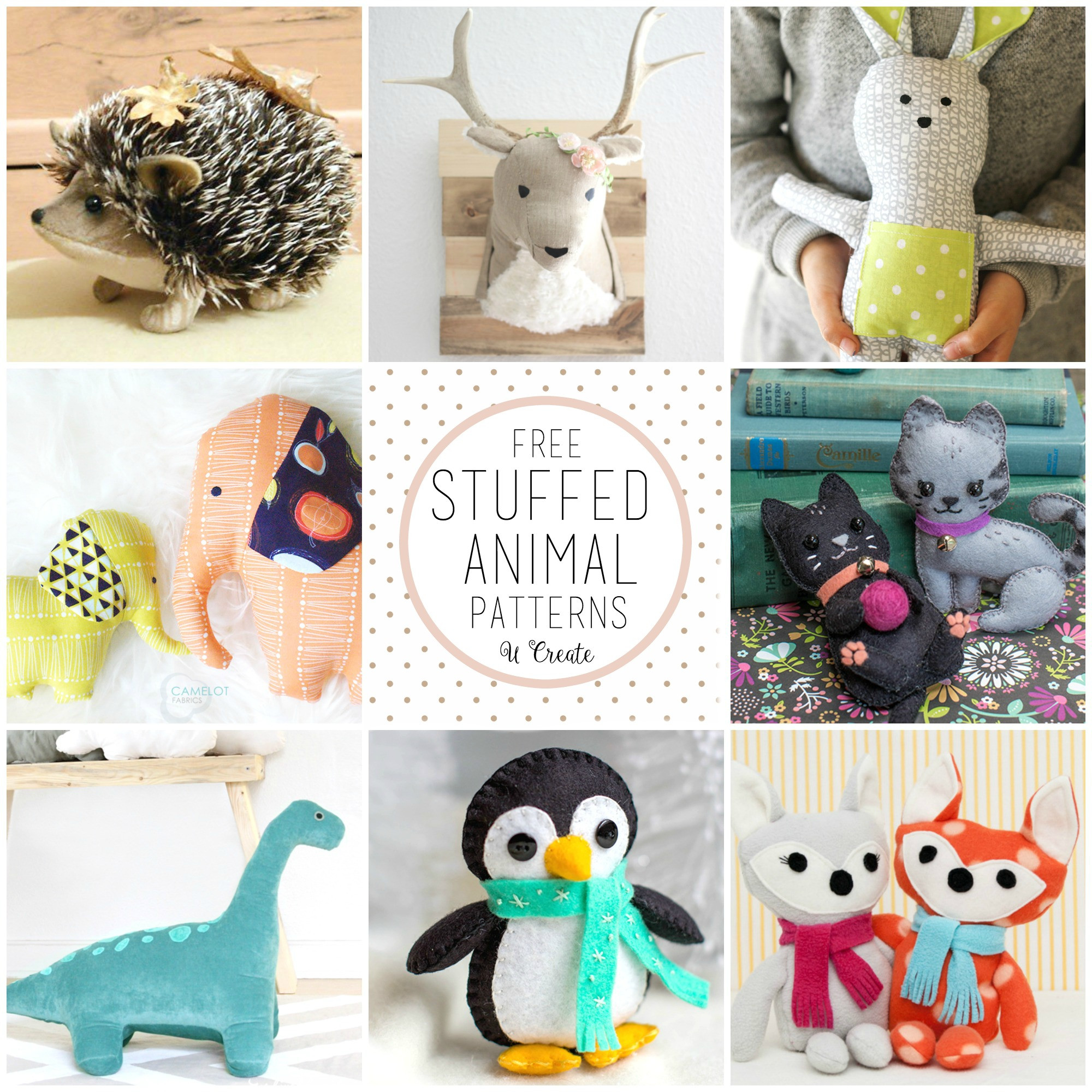 Best ideas about DIY Stuffed Animal . Save or Pin Free Stuffed Animal Patterns the cutest U Create Now.