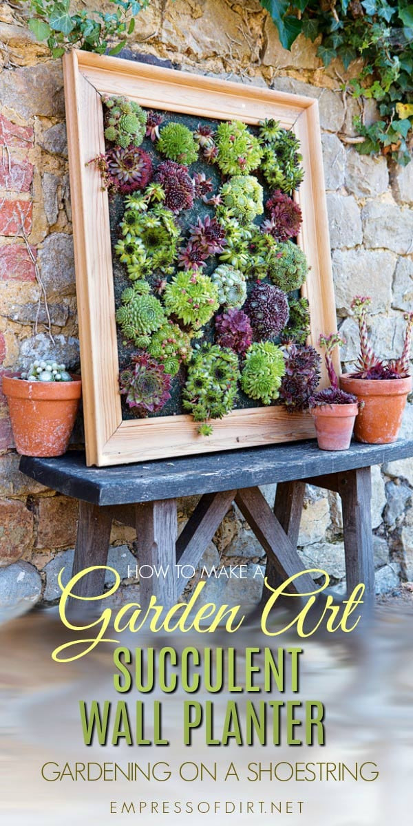 Best ideas about DIY Succulent Wall . Save or Pin DIY Succulent Wall Planter Now.