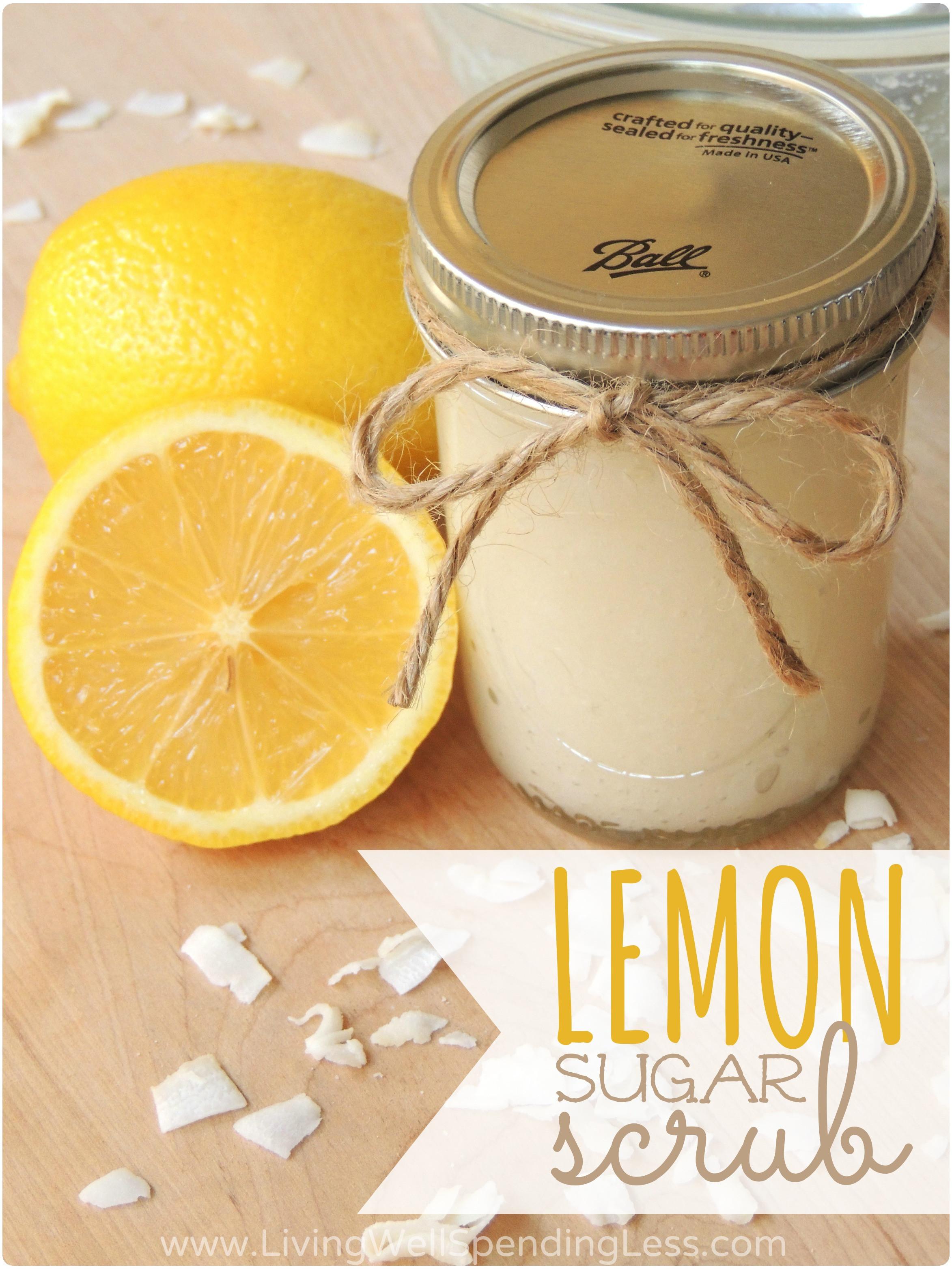 Best ideas about DIY Sugar Scrub . Save or Pin DIY Lemon Sugar Scrub Living Well Spending Less Now.