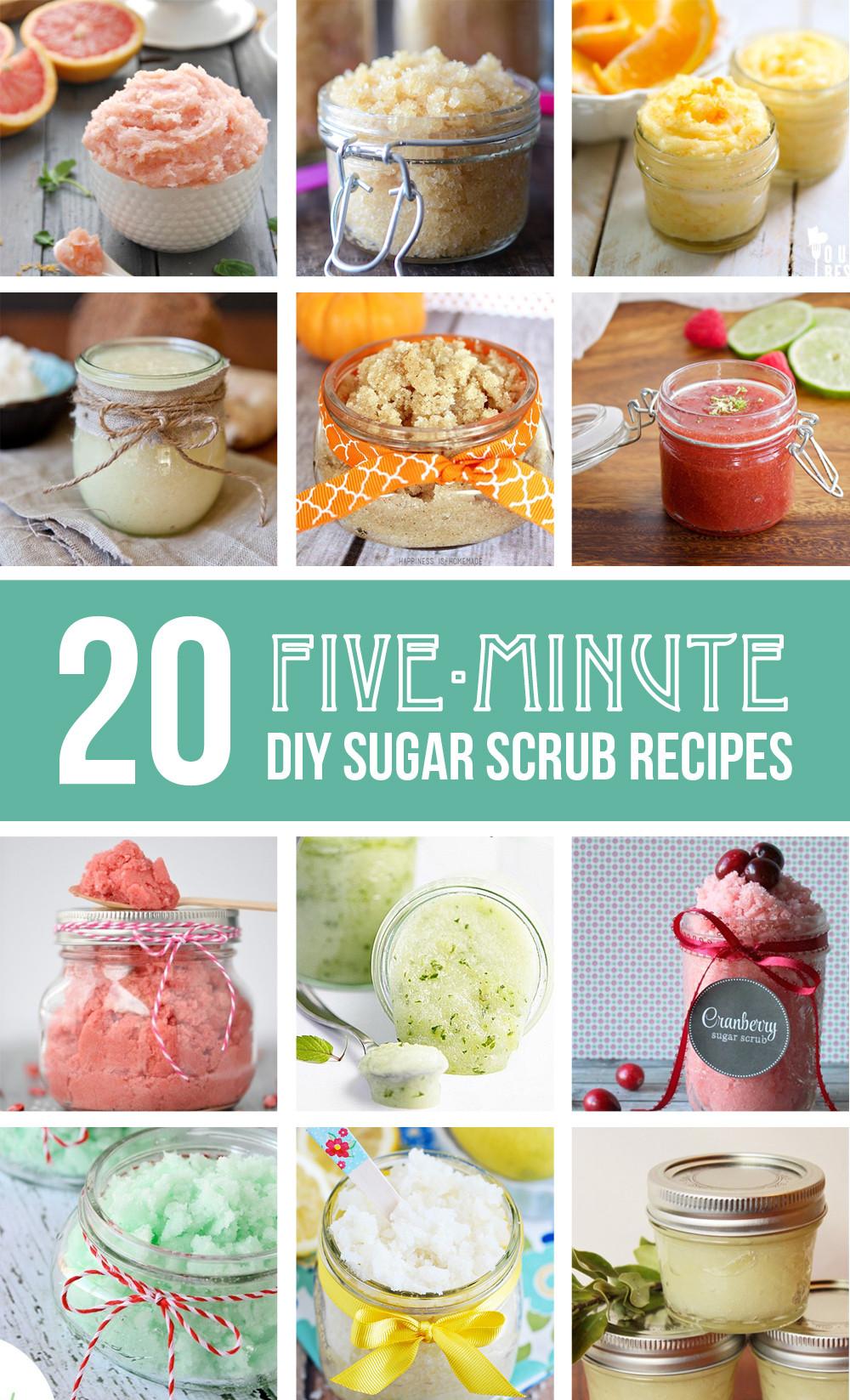 Best ideas about DIY Sugar Scrub . Save or Pin 20 five minute DIY Sugar Scrub Recipes Now.