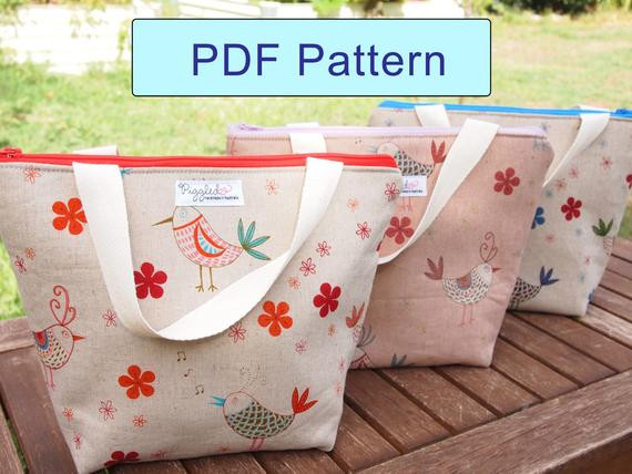 Best ideas about DIY Super Insulated Cooler . Save or Pin Insulated Lunch Bag DIY Pattern PDF with Detailed by piggledee Now.