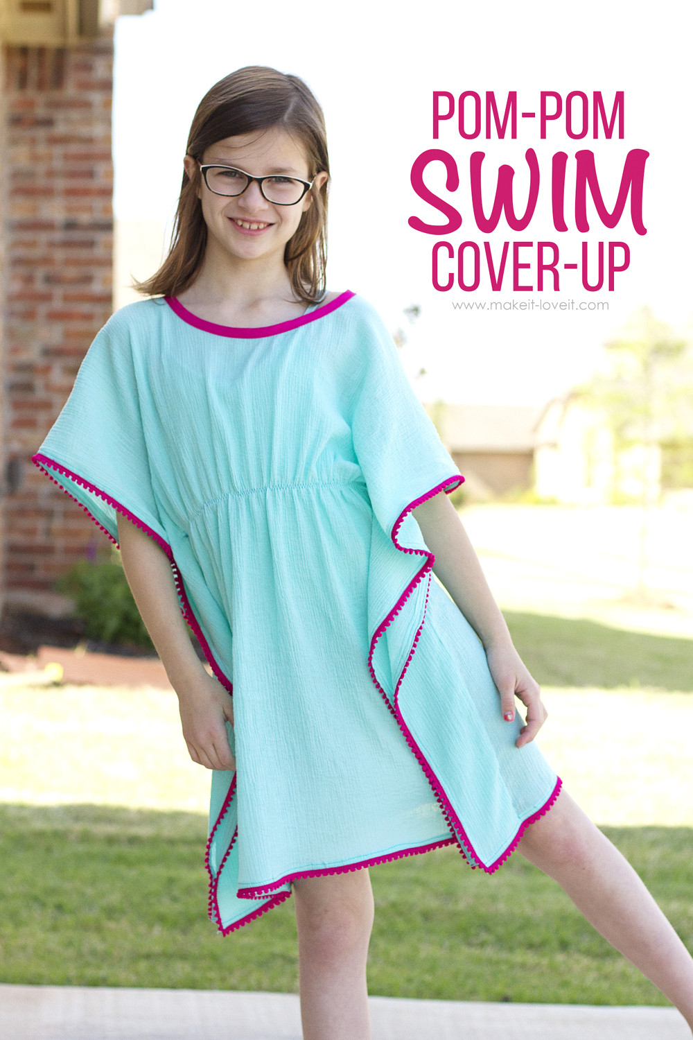 Best ideas about DIY Swimsuit Cover Ups . Save or Pin DIY Pom Pom Swim Cover Up Now.