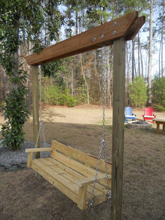 Best ideas about DIY Swing Frame . Save or Pin Awesome DIY Garden Swings Now.