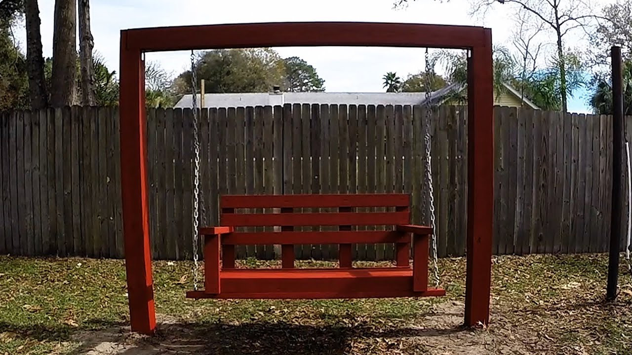 Best ideas about DIY Swing Frame . Save or Pin DIY Simple Easy Cheap Porch Bench Swing with 2x4 s Now.