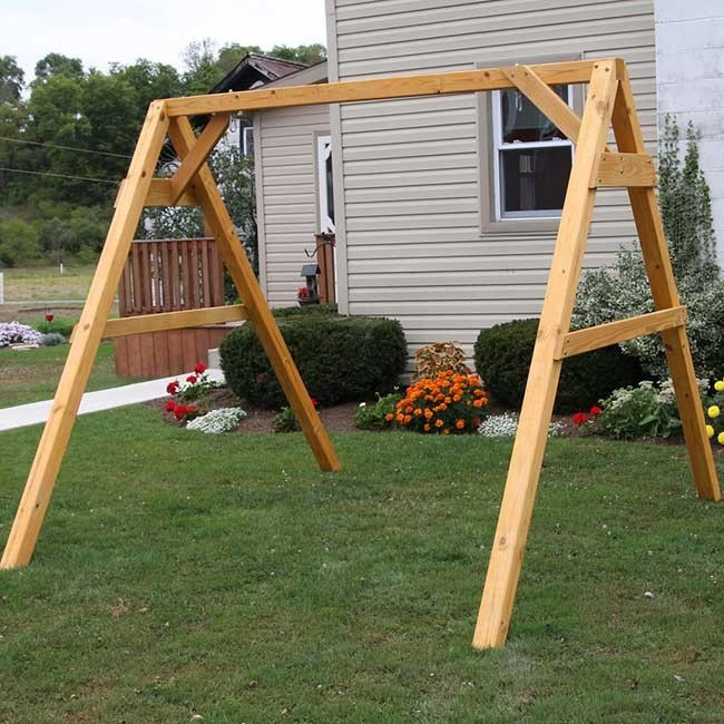 Best ideas about DIY Swing Frame . Save or Pin Build DIY Porch swing frame designs PDF Plans Wooden Bat Now.