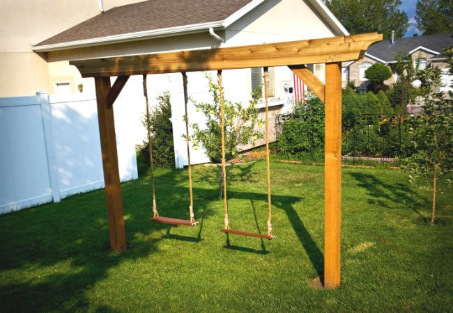 Best ideas about DIY Swing Frame . Save or Pin DIY Swing Set 5 Ways to Make Your Own Bob Vila Now.