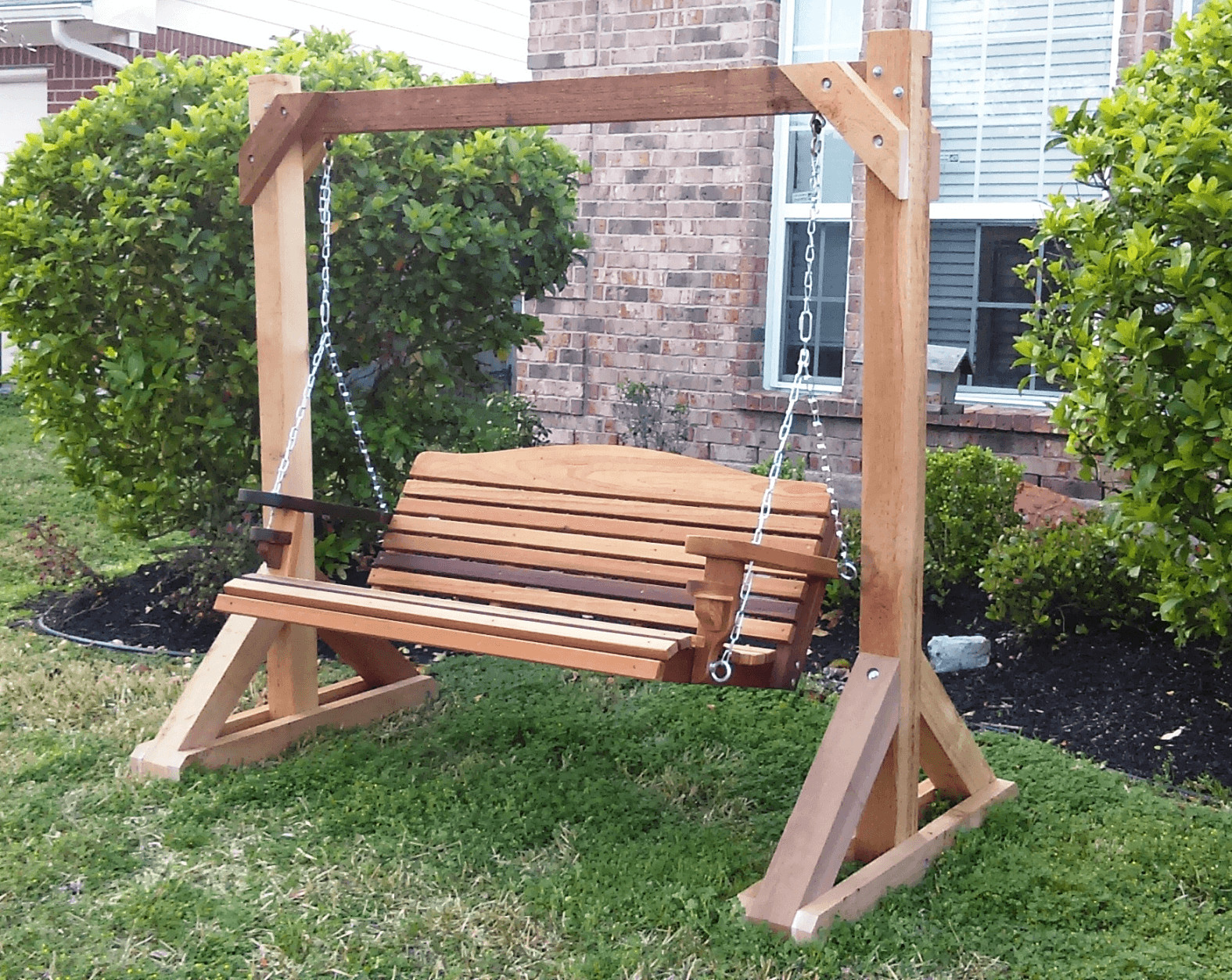 Best ideas about DIY Swing Frame . Save or Pin Simple Tips to Build DIY Wood Porch Swing Frame Plans Now.