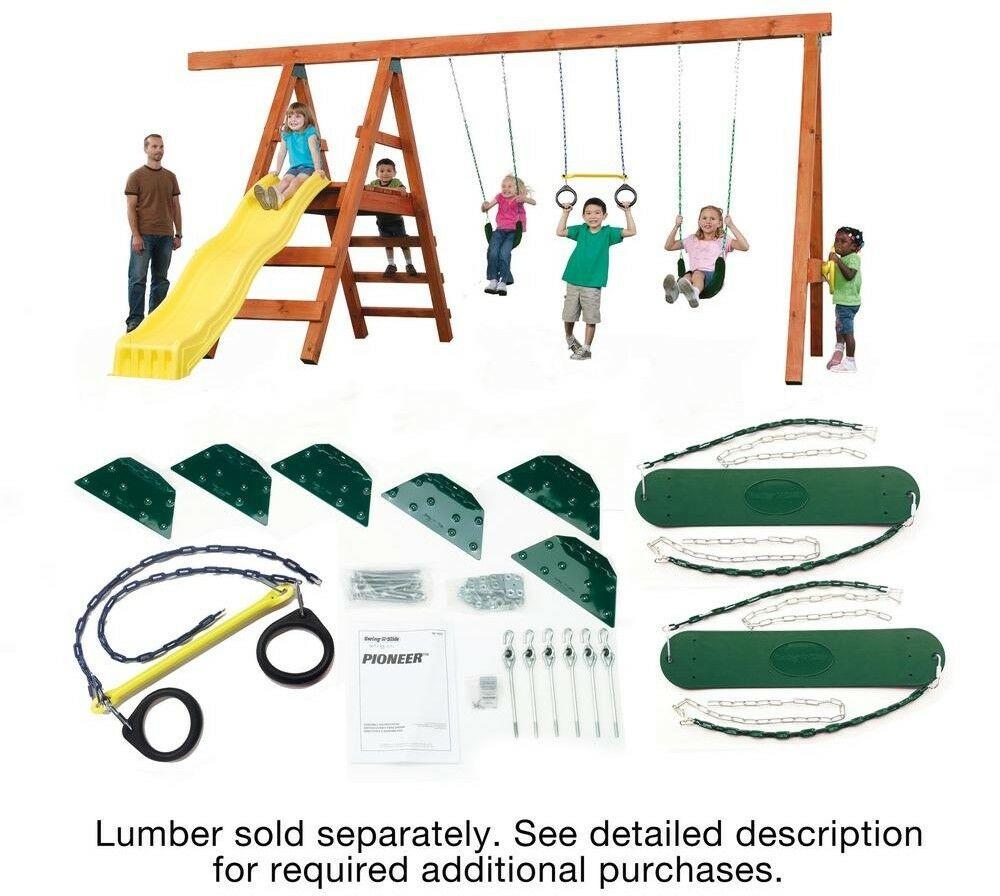 Best ideas about DIY Swing Set Hardware Kits . Save or Pin DIY Custom Backyard Kids Play Set Hardware Kit Outdoor Now.