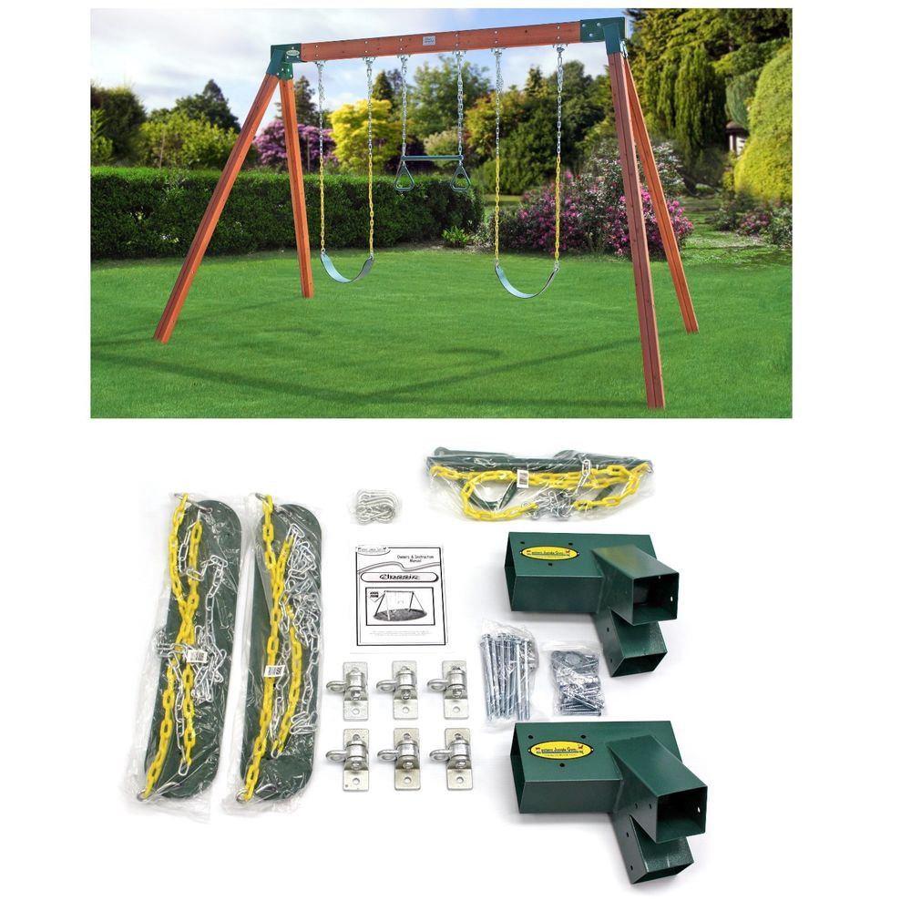 Best ideas about DIY Swing Set Hardware Kits . Save or Pin Swing Set Hardware Kit A Frame Classic Free Standing DIY Now.
