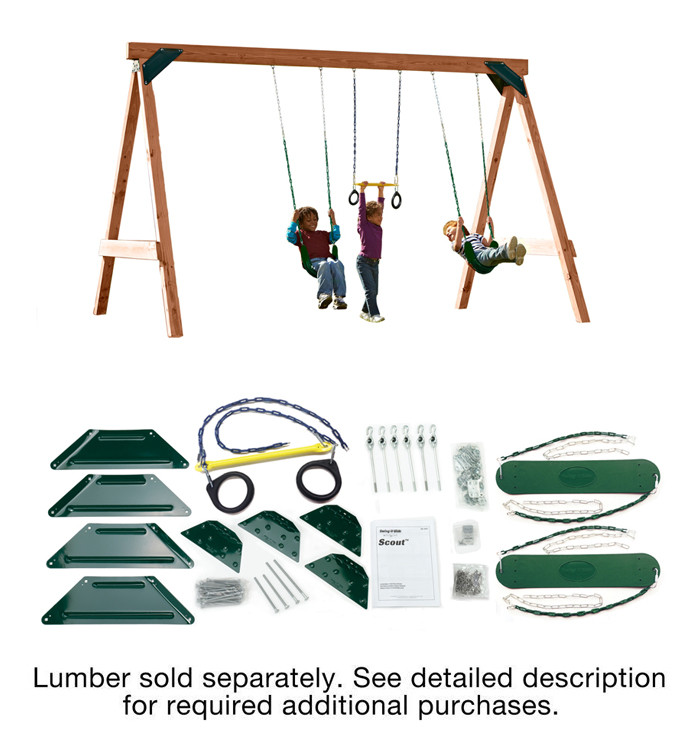 Best ideas about DIY Swing Set Hardware Kits . Save or Pin Scout Build your Own Swing Set Kit with Hardware Now.