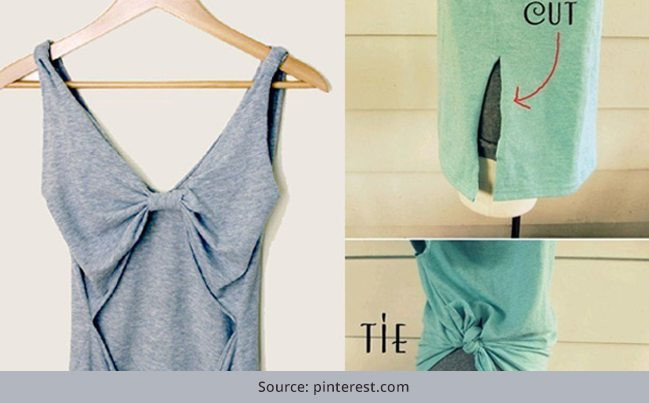 Best ideas about DIY T Shirt Cutting Ideas . Save or Pin 27 DIY T Shirt Cutting Ideas To Try Your Old Outfits Now.