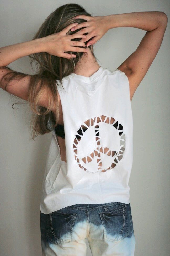 Best ideas about DIY T Shirt Cutting Ideas . Save or Pin T Shirt Ideas Cutting Now.