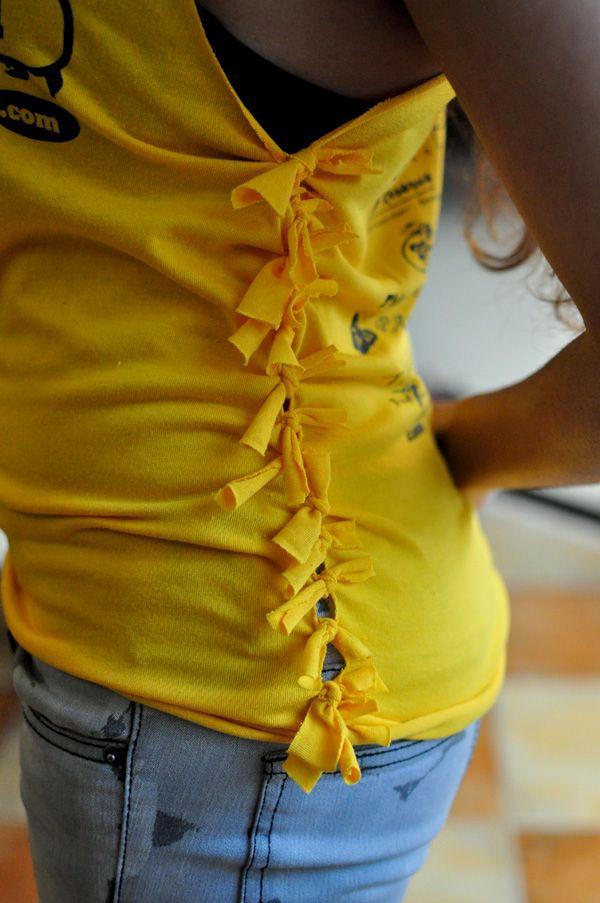 Best ideas about DIY T Shirt Cutting Ideas . Save or Pin 25 DIY T Shirt Cutting Ideas for Girls Hative Now.