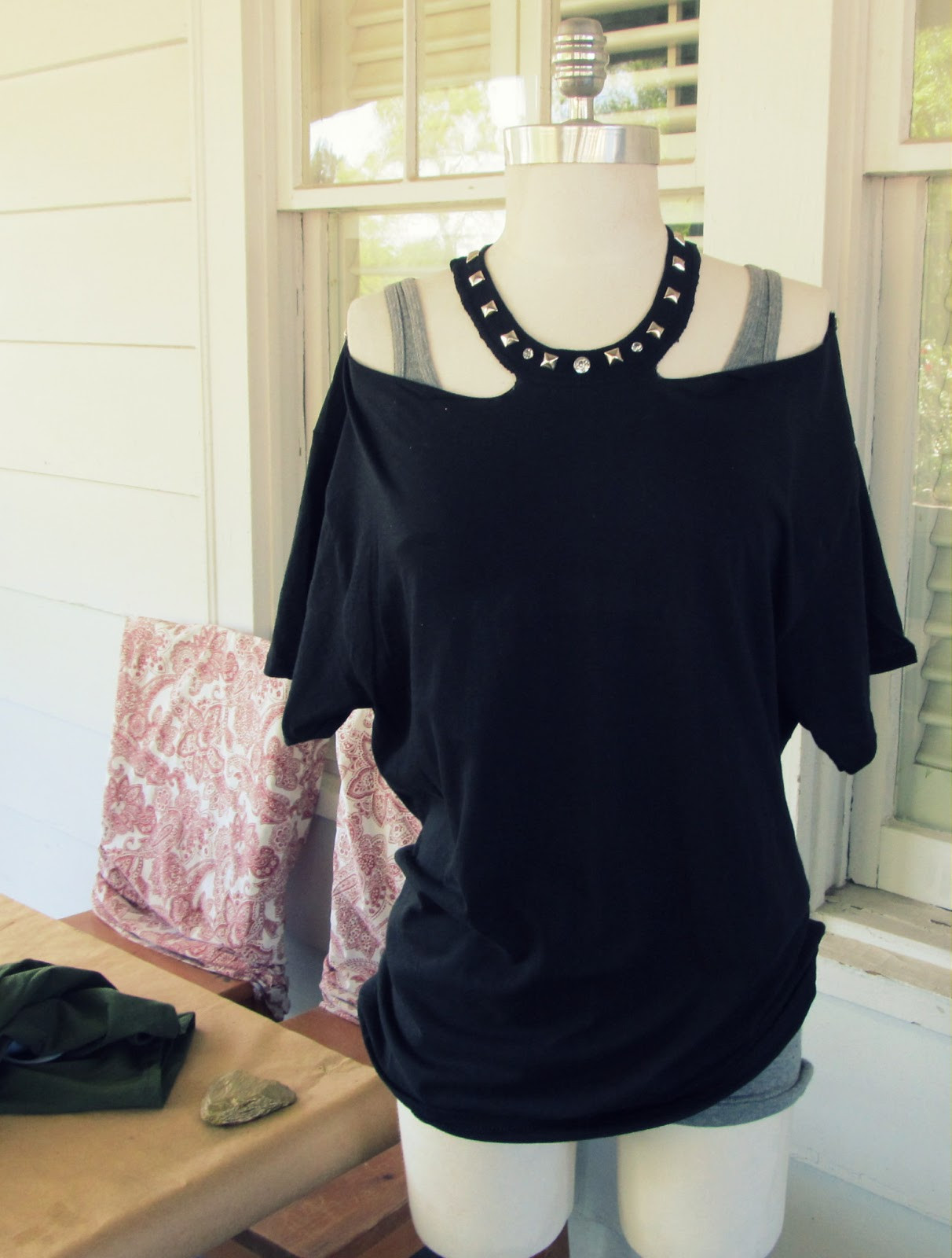 Best ideas about DIY T Shirt . Save or Pin WobiSobi No Sew Jewelled Halter T Shirt DIY Now.