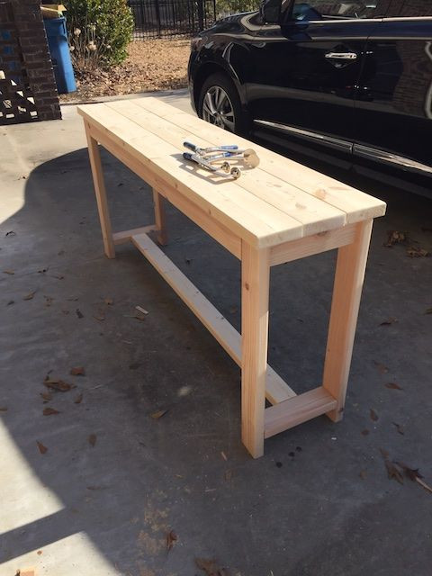 Best ideas about DIY Table Planners . Save or Pin DIY X Brace Console Table Free Plans Now.