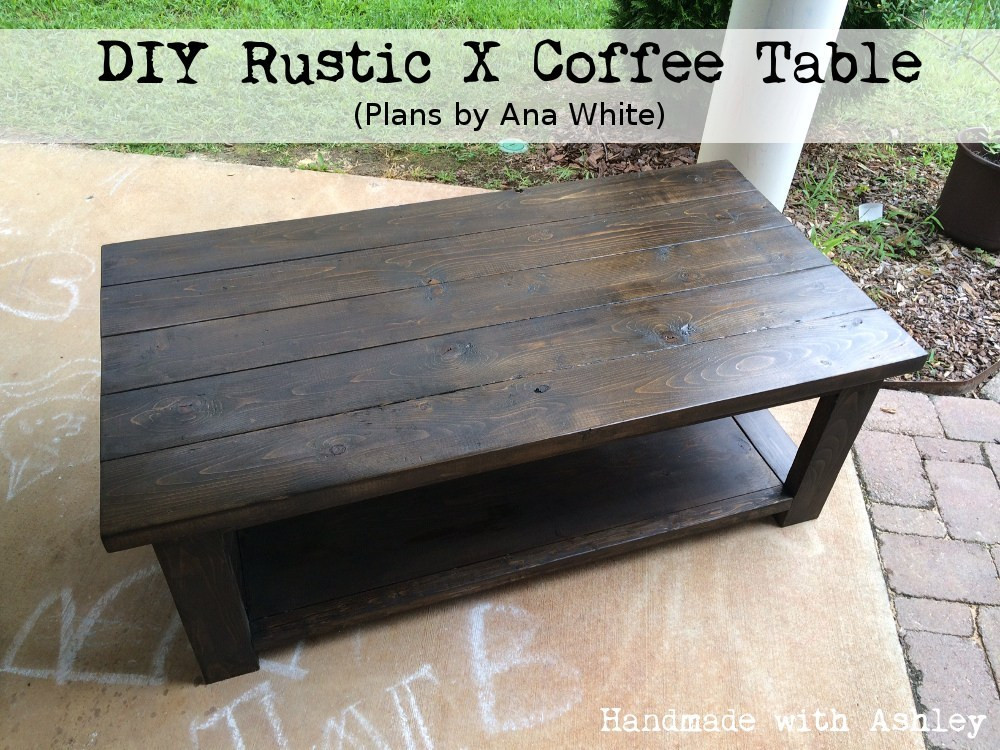 Best ideas about DIY Table Planners . Save or Pin DIY Rustic X Coffee Table Plans by Ana White Handmade Now.