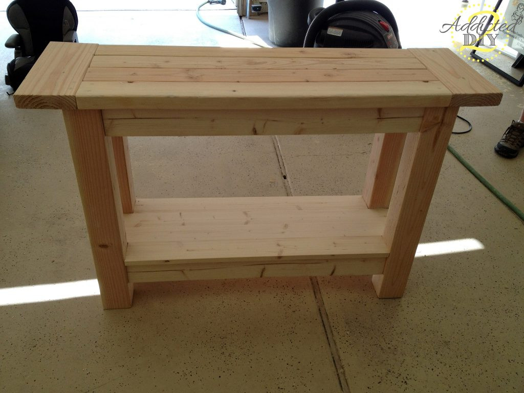 Best ideas about DIY Table Planners . Save or Pin Pottery Barn Inspired Console Table Addicted 2 DIY Now.