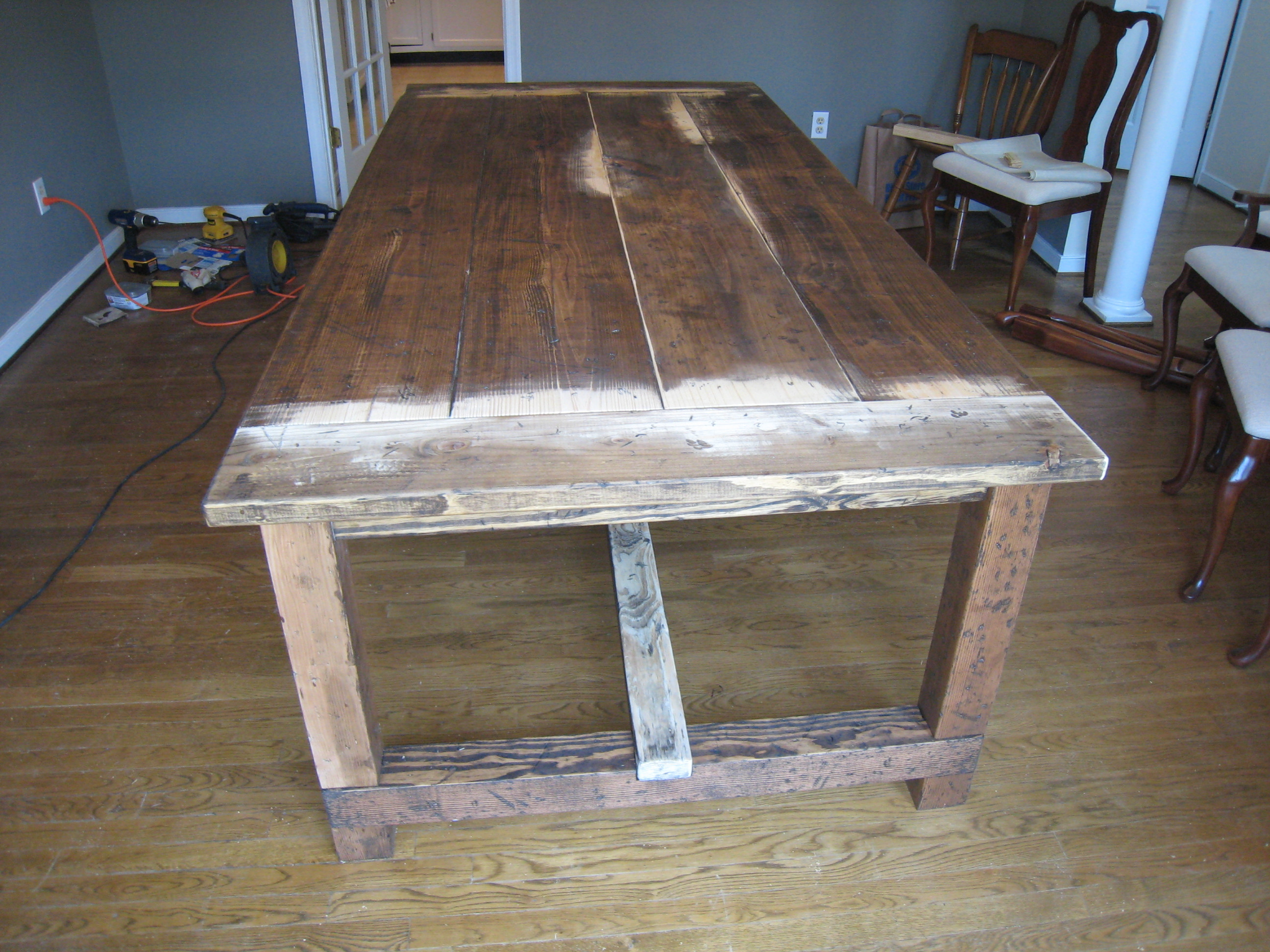 Best ideas about DIY Table Planners . Save or Pin Farmhouse Table Details Tommy & Ellie Now.