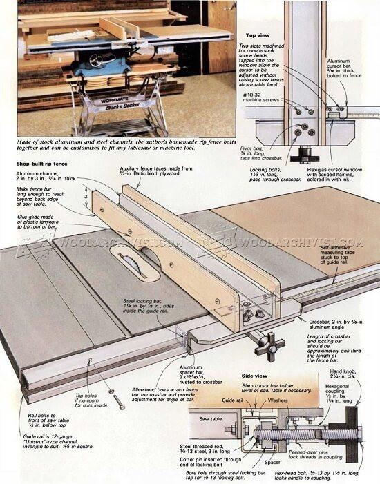 Best ideas about DIY Table Saw Plans . Save or Pin 8 Simple DIY Table Saw Fence Plans You Can Build In Less 1 Now.