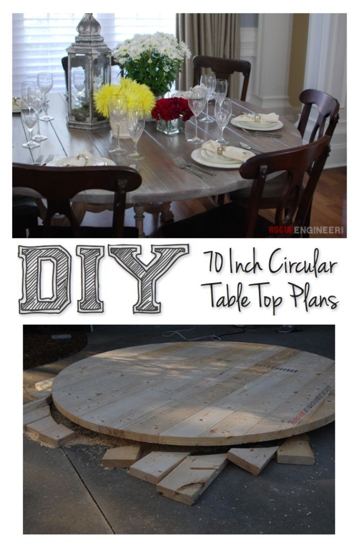 Best ideas about DIY Table Tops . Save or Pin 70 Inch Round Table Top DIY Tutorial Now.