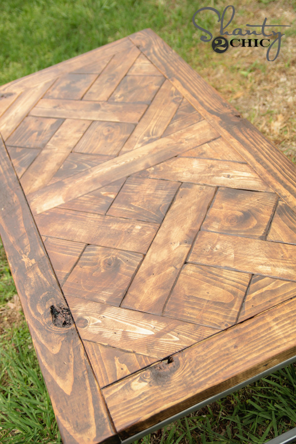 Best ideas about DIY Table Tops . Save or Pin DIY Metal and Wood Coffee Table Shanty 2 Chic Now.