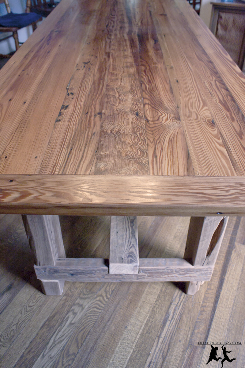 Best ideas about DIY Table Tops . Save or Pin Reclaimed Heart Pine Farmhouse Table – DIY – Part 5 Now.