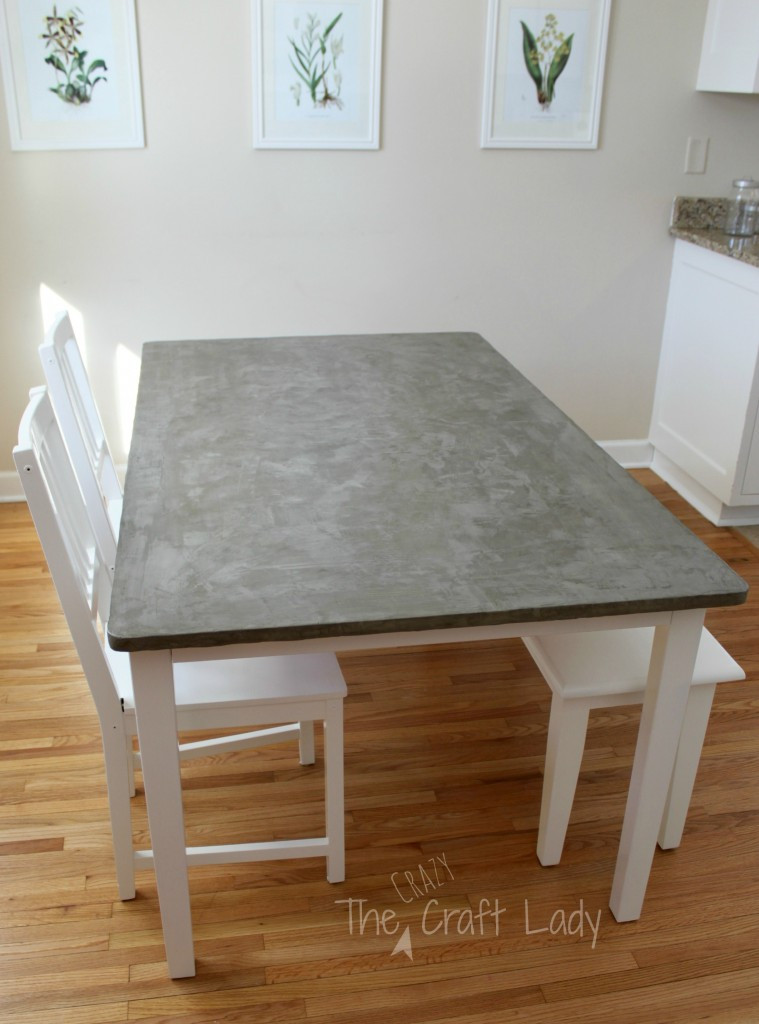 Best ideas about DIY Table Tops . Save or Pin DIY Concrete Dining Table Top and Dining Set Makeover Now.