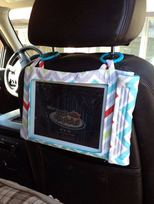 Best ideas about DIY Tablet Headrest Mount . Save or Pin SALE 5 Dollars off Colorful Chevron iPad Case Great for Car Now.