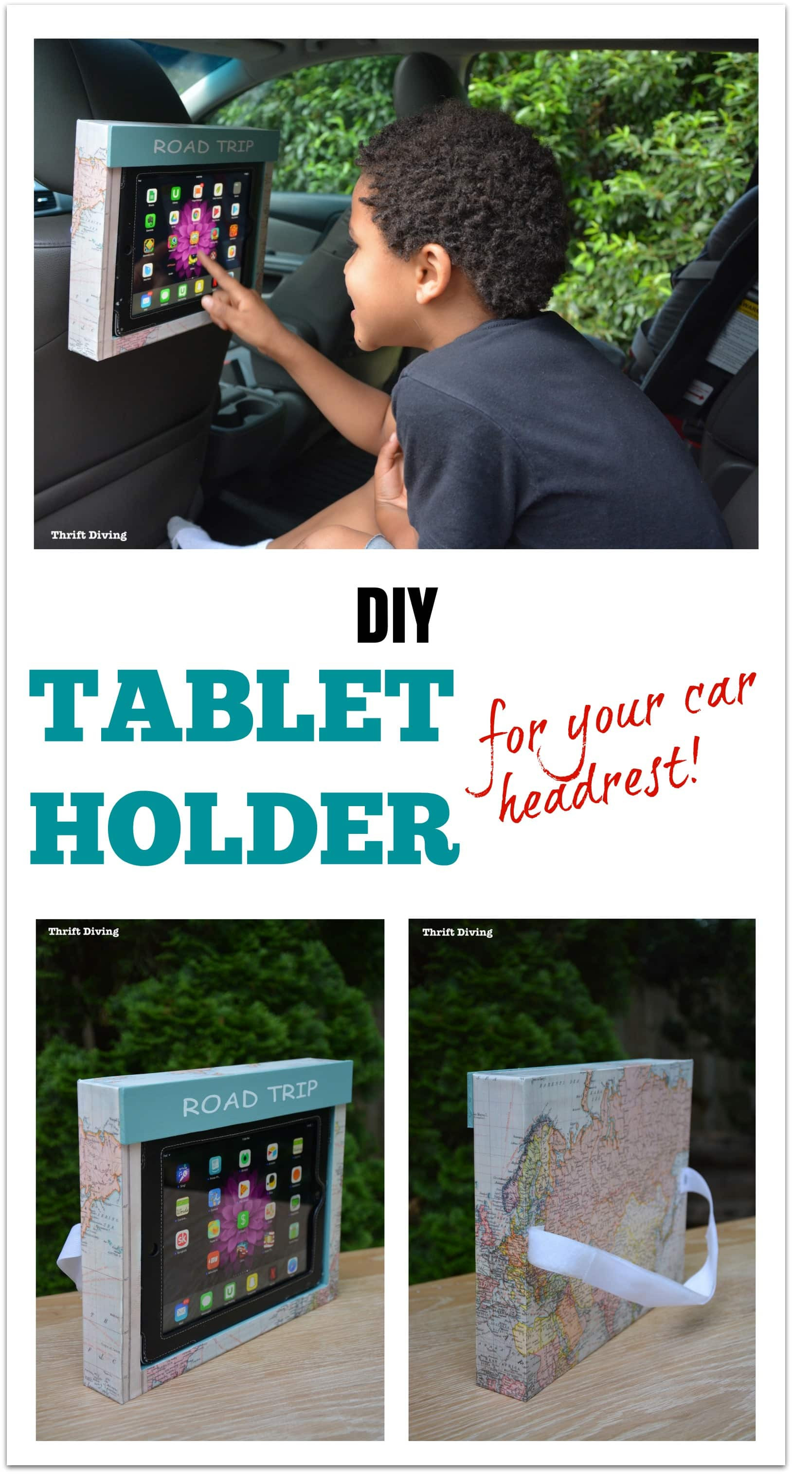 Best ideas about DIY Tablet Headrest Mount . Save or Pin How to Make a DIY Tablet Holder for a Car Headrest Now.