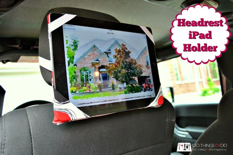 Best ideas about DIY Tablet Headrest Mount . Save or Pin 100 Things 2 Do Headrest iPad Holder DIY Now.