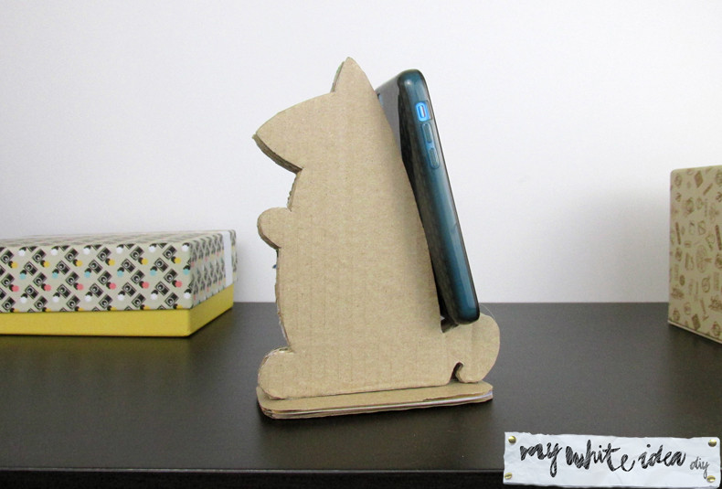 Best ideas about DIY Tablet Stand Cardboard . Save or Pin DIY Cardboard Tablet Stand Now.