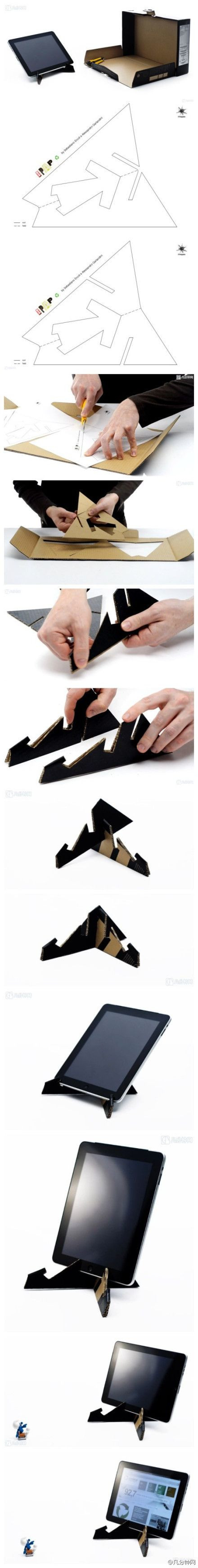 Best ideas about DIY Tablet Stand Cardboard . Save or Pin Tablet stand Diy cardboard and DIY and crafts on Pinterest Now.