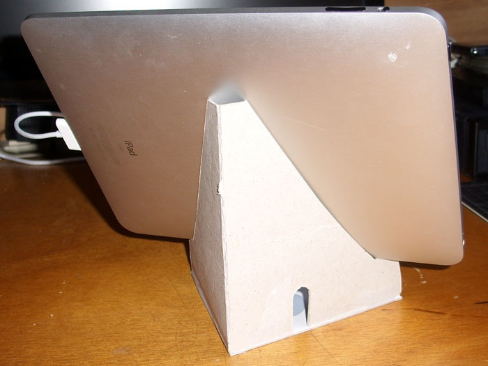 Best ideas about DIY Tablet Stand Cardboard . Save or Pin tablet stand made of cardboard with pdf Now.