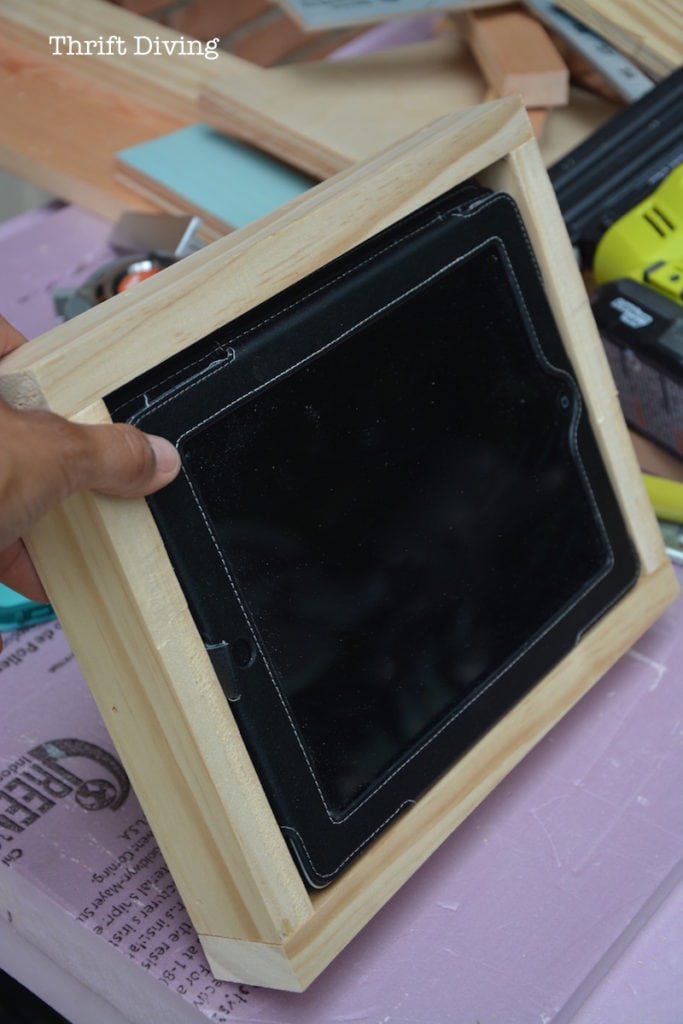 Best ideas about DIY Tablet Stand Wood . Save or Pin How to Make a DIY Tablet Holder For Your Wall Now.