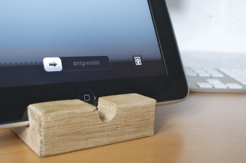 Best ideas about DIY Tablet Stand Wood . Save or Pin Cheap And Easy DIY Wooden iPad Stand Shelterness Now.