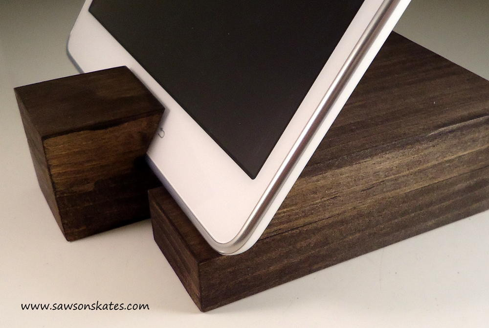 Best ideas about DIY Tablet Stand Wood . Save or Pin Scrap Wood DIY Rustic Mod Tablet Holder Now.