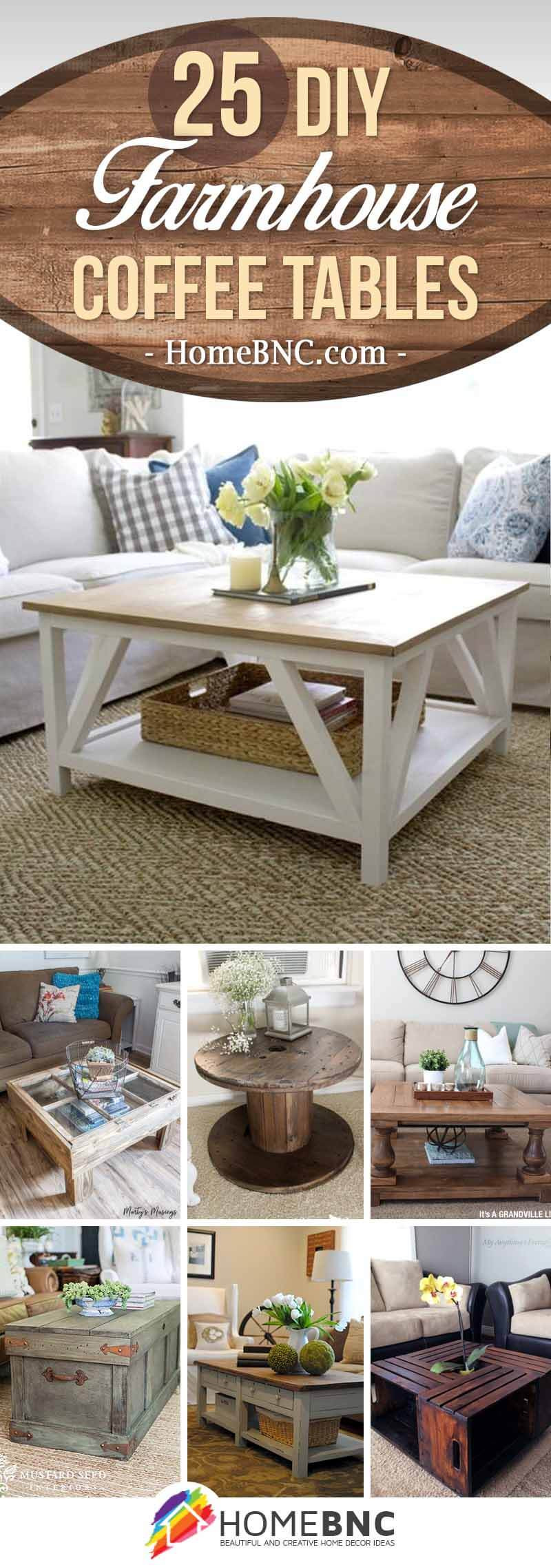 Best ideas about DIY Tabletop Ideas . Save or Pin 25 Best DIY Farmhouse Coffee Table Ideas and Designs for 2019 Now.