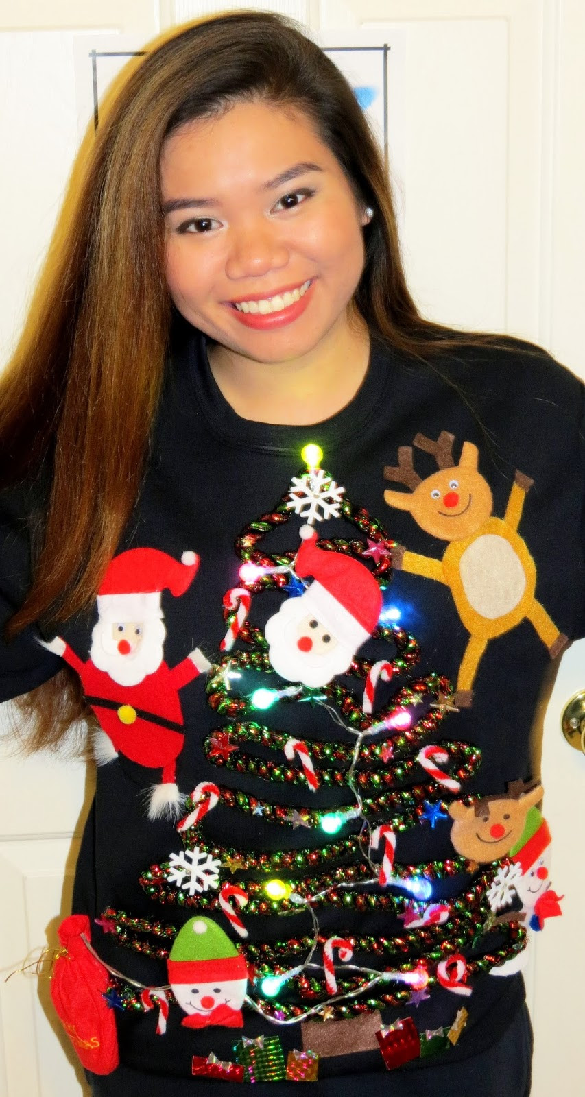 Best ideas about DIY Tacky Christmas Sweaters . Save or Pin NonaChewy DIY Ugly Christmas Sweater Now.