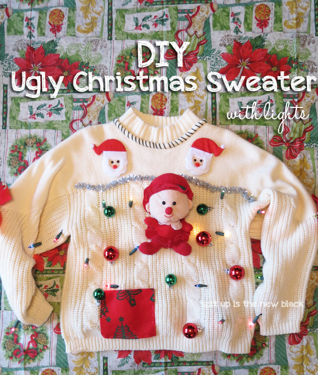 Best ideas about DIY Tacky Christmas Sweaters . Save or Pin 15 Do It Yourself Ugly Christmas Sweaters Oh My Creative Now.