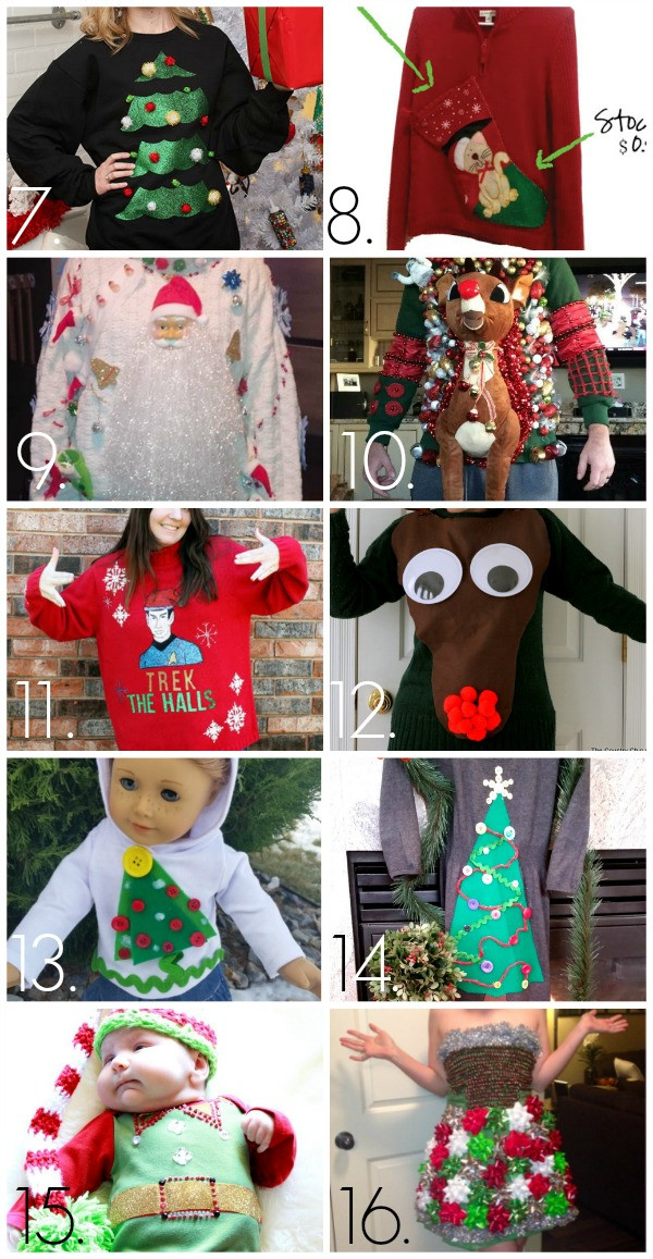 Best ideas about DIY Tacky Christmas Sweaters . Save or Pin 32 DIY Ugly Christmas Sweaters C R A F T Now.